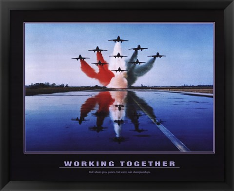 Framed Working Together Print