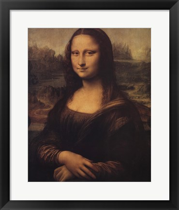 Framed Mona Lisa, c.1507 Print