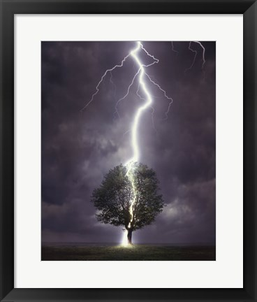 Framed Lightning Print