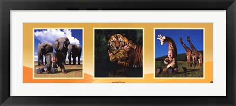 Framed Imaginary Safari Print