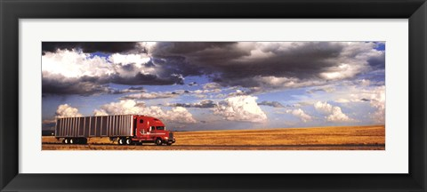 Framed Truck in the Field Print