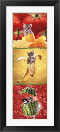 Framed Kittens and Food Print