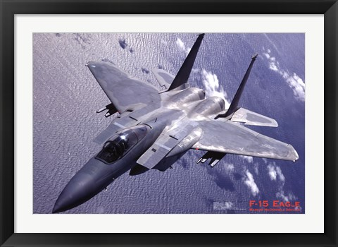 Framed Airplane F-15 Eagle Print