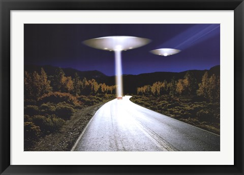 Framed Ufo Invasion Print