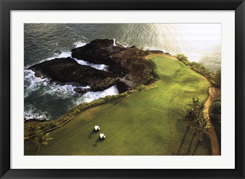 Framed Golf Course, Hawaii Coast Print