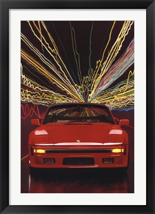 Framed Porsche 911 Slopenose Convertible Print
