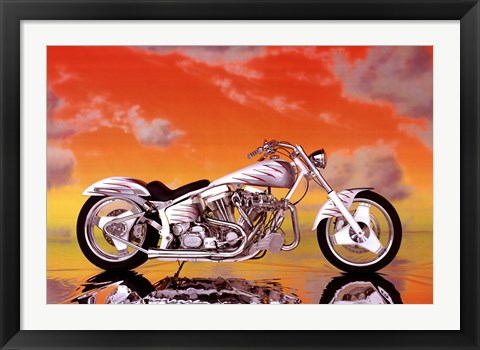 Framed Motorcycle - Custom Print