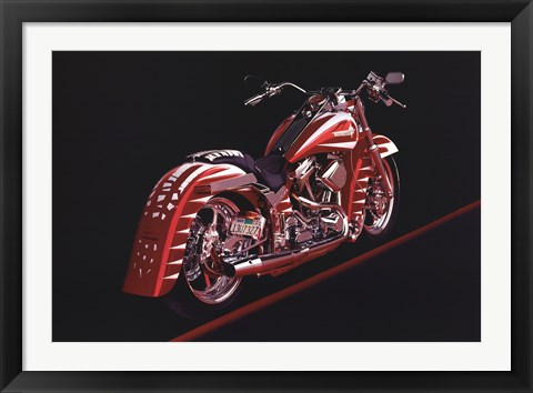 Framed Motorcycle - 1995 Print