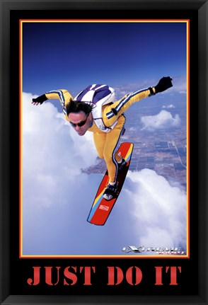 Framed Just Do It - Extreme Sport Print