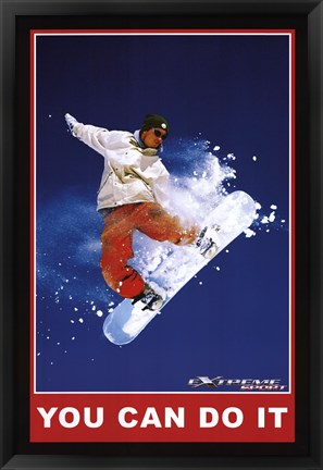 Framed You Can Do It - Extreme Sport Print