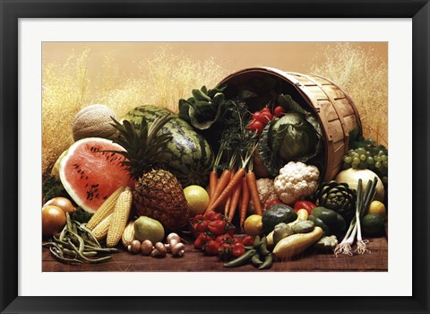 Framed Fruit Vegetables Print