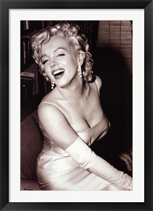 Framed Monroe Marylin - Smiling Print