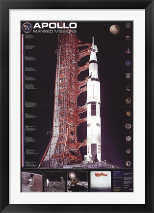 Framed Apollo 11 Manned Mission Print