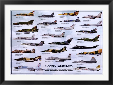 Framed Modern Warplanes Print