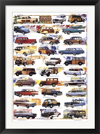 Framed Station Wagon 1932-1967 Print