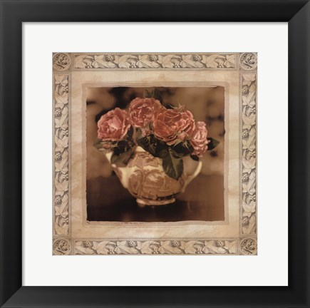 Framed Imperial Rose I Print