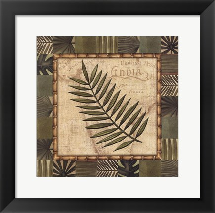 Framed Tropical Leaf I Print