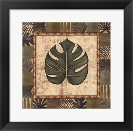 Framed Tropical Leaf IV Print