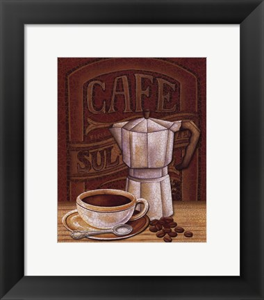 Framed Cafe Mundo I Print