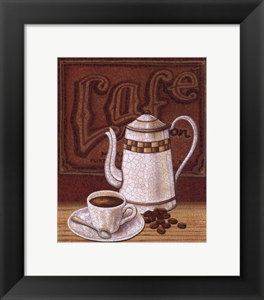 Framed Cafe Mundo II Print