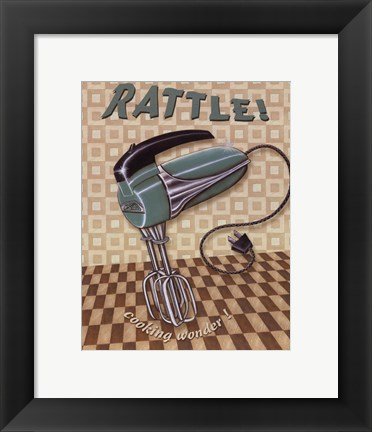 Framed Nifty Fifties - Rattle Print