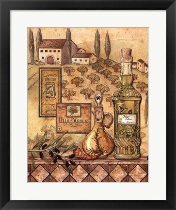 Framed Flavors of Tuscany I Print