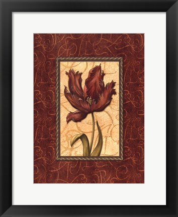 Framed Red Passion III Print