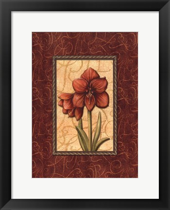 Framed Red Passion IV Print