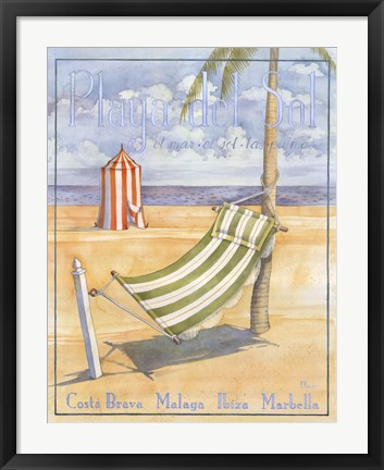 Framed Playa Del Sol Print