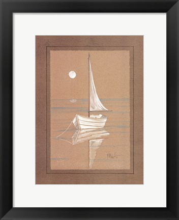 Framed White Sailboat Print