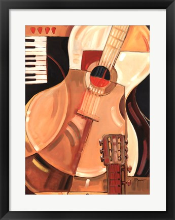 Framed Abstract Guitar Print