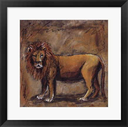 Framed Safari Lion Print