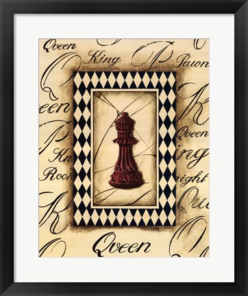 Framed Chess Queen Print