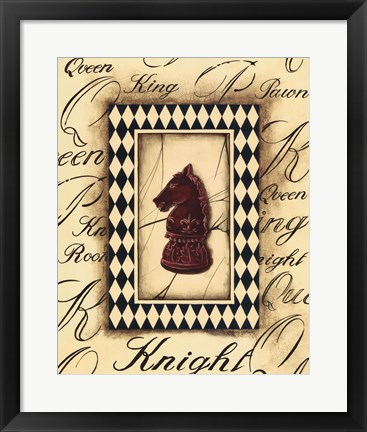 Framed Chess Knight Print