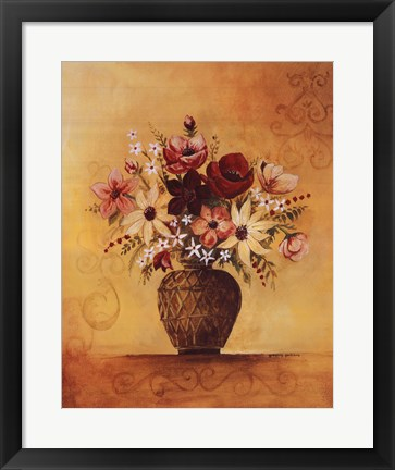 Framed Yellow Floral Study II Print