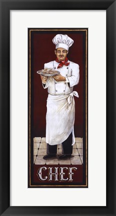 Framed Chef Print