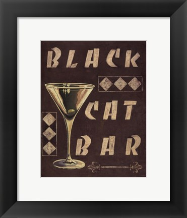 Framed Cocktail Hour III Print