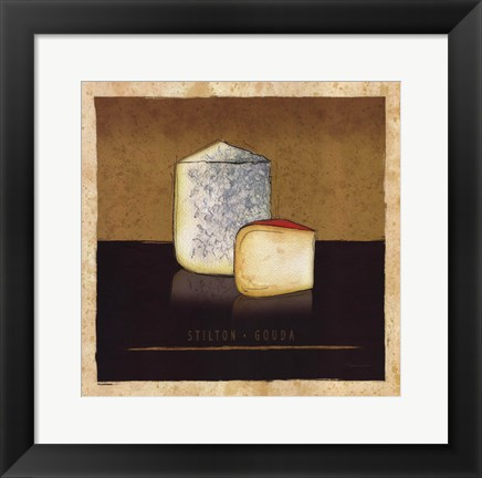 Framed Cheeses II Print