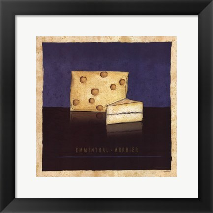 Framed Cheeses IV Print