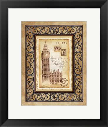 Framed London Postcard Print