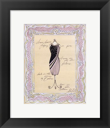Framed Dress Form I Print