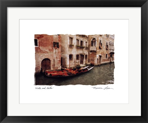 Framed Water and Walls Print