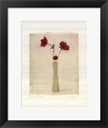 Framed Red Anemones III Print