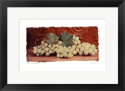 Framed Grape Harvest II Print