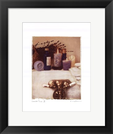 Framed Lavender Time II Print
