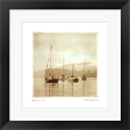 Framed Harbour I Print