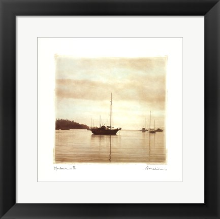 Framed Harbour II Print