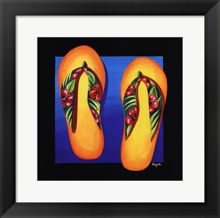 Framed Hawaii Thongs Print
