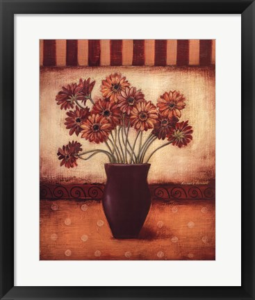 Framed Red Daisies Print