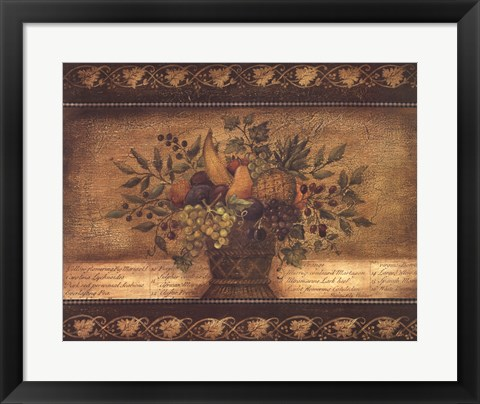 Framed Old World Abundance I Print